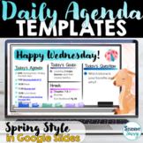 Daily Agenda Template | Daily Schedule Google Slides SPRING THEME