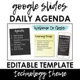 Daily Agenda Template - Google Slides - Technology Theme