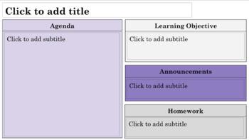 Daily Agenda Template - Purple