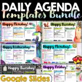 Daily Agenda Google Slides Templates BUNDLE | Daily Schedu
