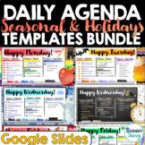 Daily Agenda Templates Holidays & Seasons BUNDLE | Daily S