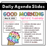 Daily Agenda and Welcome Slides   Morning Work Slides   EDITABLE