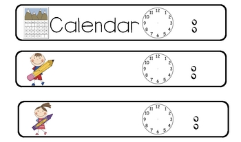 Daily Agenda or Schedule Cards