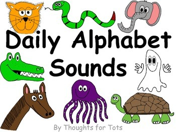 Alphabet Book, Beginning Sounds Practice, Pictures and Hand Motions