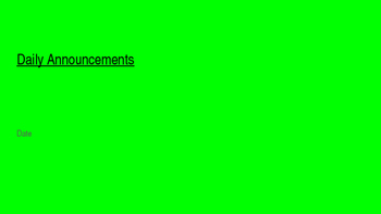 Daily Announcement Template