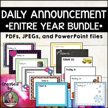Daily Announcements ENTIRE YEAR Bundle