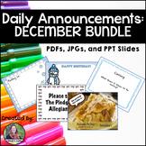 Daily Announcements DECEMBER Bundle