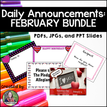 Daily Announcements FEBRUARY Bundle