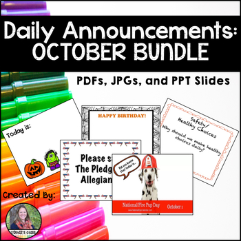 Daily Announcements OCTOBER Bundle
