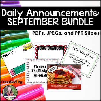 Daily Announcements SEPTEMBER