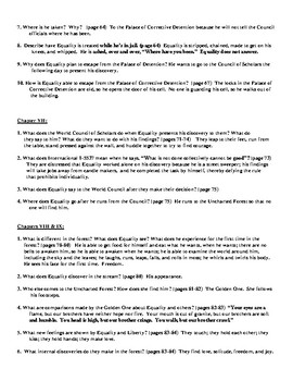 Anthem Daily Chapter Warm-Ups or Pop Quizzes with Detailed Answer Key