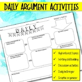 Daily Argument Activities for Bell Ringer, Graphic Organiz