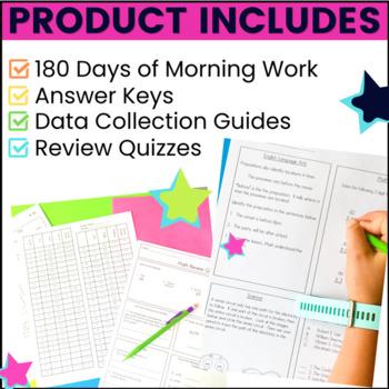 Morning Work Bundle: 180 Assessments for 3rd Grade