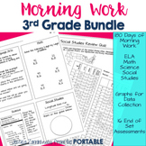 3rd Grade Morning Work Bundle: 180 days (Math, Science, Socials Studies and ELA)