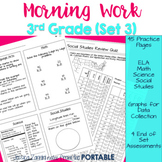 Third Grade Morning Work Set 3 (ELA, Math, Science, Social