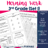 Morning Work: Third Grade Set 1 - (ELA, Math, Science, and Social Studies)