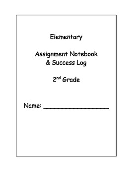 Daily Assignment Notebook with Character Education/Behavior Log