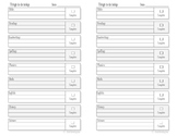 Daily Assignment Sheets- half page size