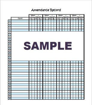 daily attendance form by the paper saver teachers pay teachers