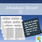 Daily Attendance Record