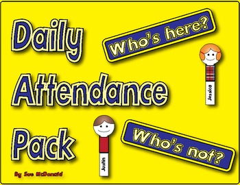 Daily Attendance Pack- High Quality Graphics - Prints perf