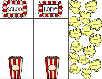 Daily Attendance: Popcorn Theme