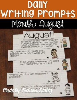 Daily Writing Prompts {August}