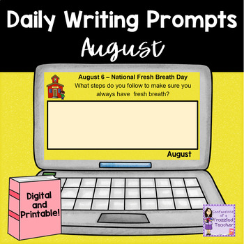 Daily August Writing Prompts