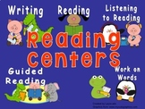 Daily Automated Centers and Guided Reading Rotation Powerpoint - Animal Theme