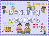 Daily Automated Centers and Guided Reading Rotation Powerpoint with 4 centers