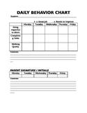 Daily Bahavior Chart