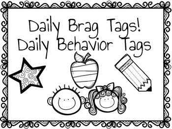Daily Behavior Badges