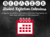 Daily Behavior Calendar Student Self Reflection