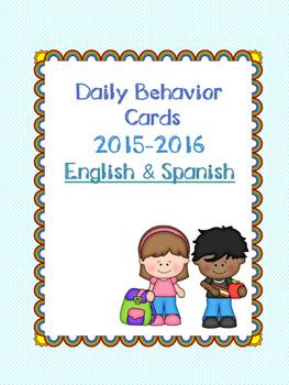 Daily Behavior Cards