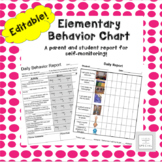 Early Elementary Daily Behavior Chart & Student Self Monitoring