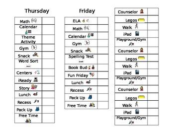 Daily Behavior Chart- Editable
