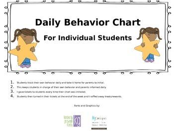 Daily Behavior Chart