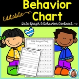 Daily Behavior Chart - Editable with a Behavior Contract and Data Graph