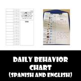 Daily Behavior Smiley Face Chart (English/Spanish) EDITABLE!