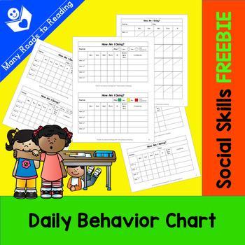 Daily Behavior Chart FREEBIE