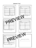 Daily Behavior Chart & Goal Setting