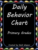 "Daily Behavior Chart - ""Is My Behavior On Track?"""