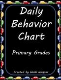 "Daily Behavior Chart - ""Is My Behavior On Track?"""