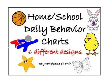 Daily Behavior Chart Set 1