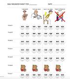 Daily Behavior Chart - Very Basic