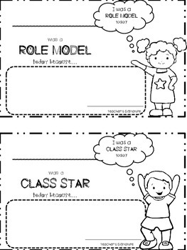 Daily Behavior Chart and Parent communication Form with Student Involvement
