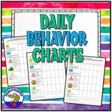 Classroom Management Behavior Chart for Daily Parent Communication