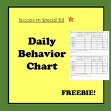 Daily Behavior Chart for Students
