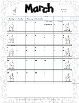 Daily Behavior Charts 2015-2016 - Editable in PowerPoint