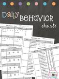 Daily Behavior Charts
